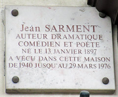 Photo of Jean Sarment marble plaque