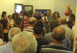 Casamassima- Il neosindaco Cessa all'inaugurazione dello Iat Casamassima