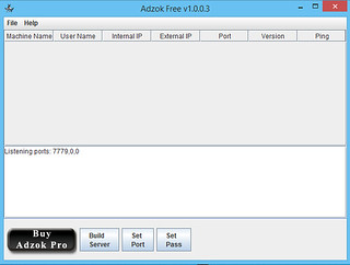 Main Window - Adzok Free