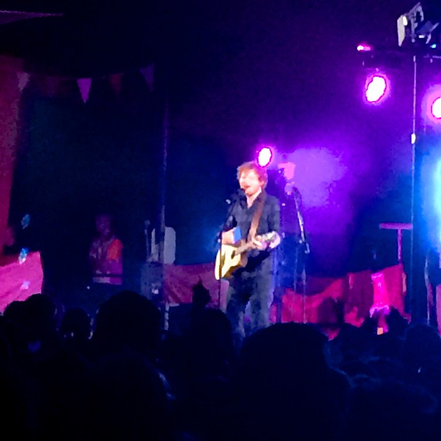 Ed Sheeran secret guest Latitude 2015 Volunteering at Latitude with Hotbox