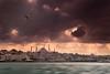Stormy Bosphorus. Istanbul, Turkey