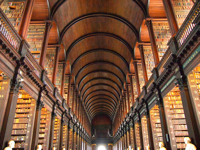 The Long Room inside the Old Library at Trinity College, Dublin