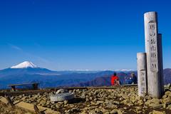 塔ノ岳山頂の大パノラマ