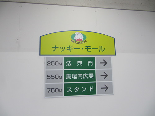 船橋法典駅から中山競馬場への地下通路ナッキーモール