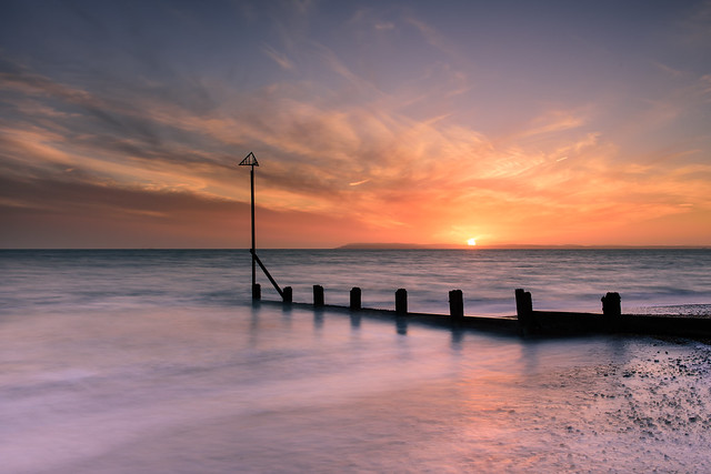 Sunset Over The Groyne (Explore 15-1-2017)