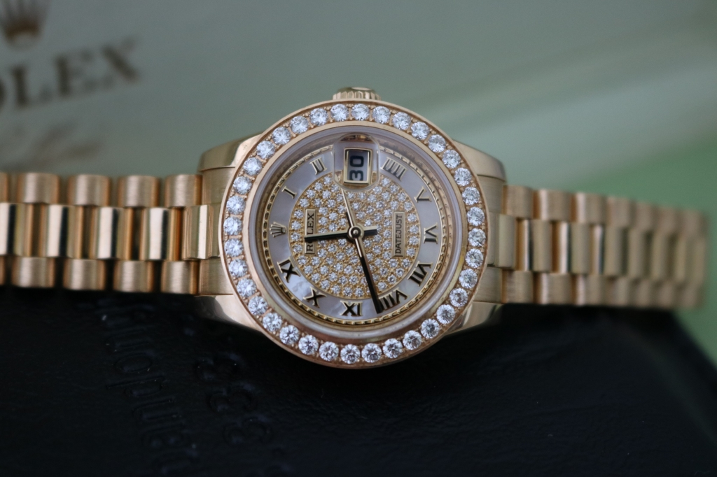 Bán đồng hồ rolex datejust 6 số nữ 179178 – Mặt Hạt xoàn Đặt biệt – Size 26mm