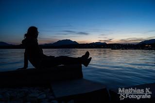 Sonnenuntergang beim See