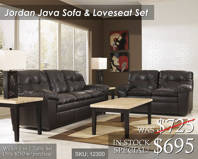 Jordan Java Sofa and Love SALE