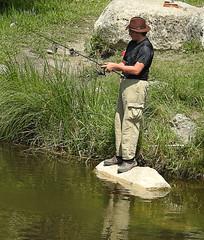 Fishing on the Sturgeon Creek