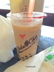 milk tea with tapioca from bobacha