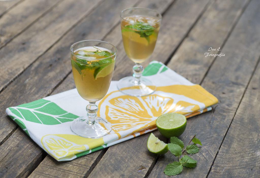 Té verde con menta y limón