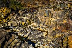 Rocks at Great Falls of the Potomac River at C&O Canal National Park - Great Falls MD