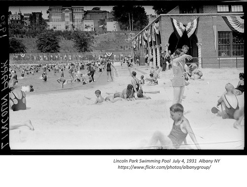 Lincoln Park Swimming Pool  July 4 1931  albany ny 1930s