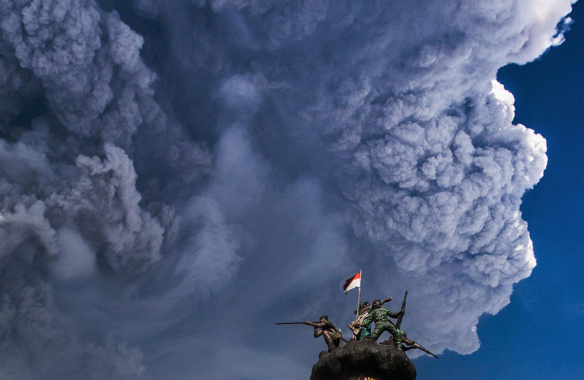 Mount Sinabung Volcano Erupts Again