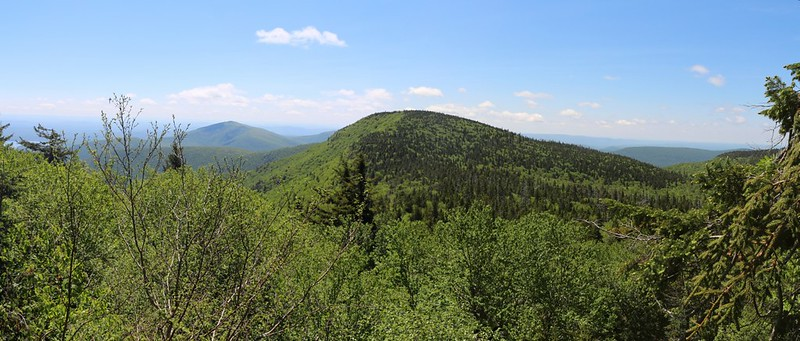 View of Ashokan High Point and Balsam Cap from the south side of Friday Mountain