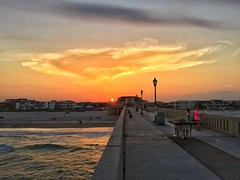 Sunset from Johnnie Mercers Pier in Wrightsville Beach, NC