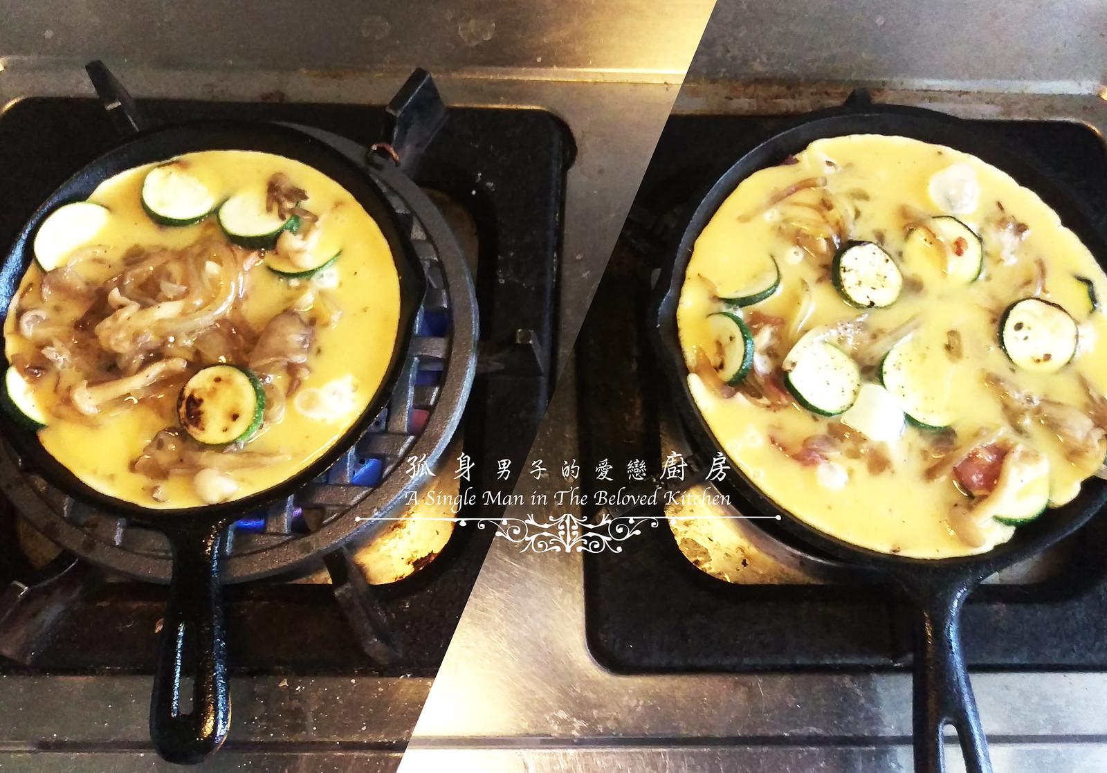 孤身廚房-清冰箱簡單早午餐!培根野菇櫛瓜義式烘蛋Frittata15