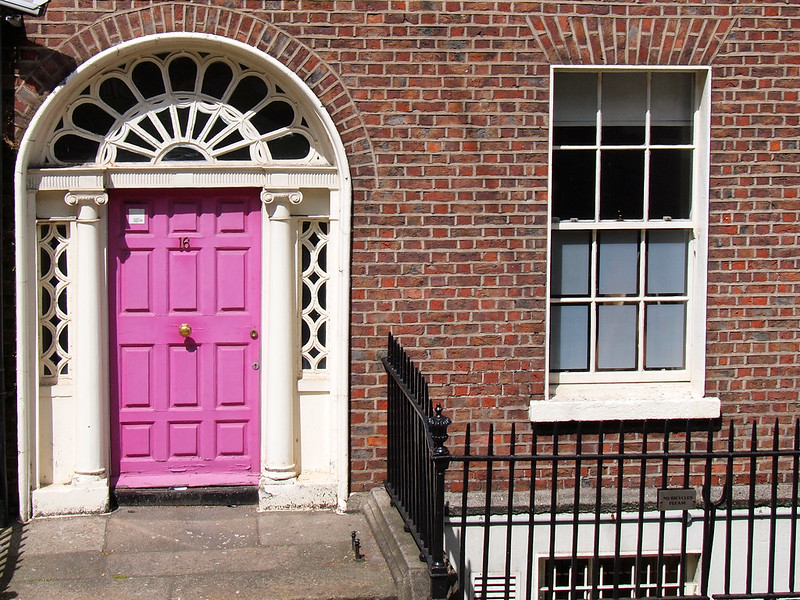 Georgian door in Dublin, Ireland