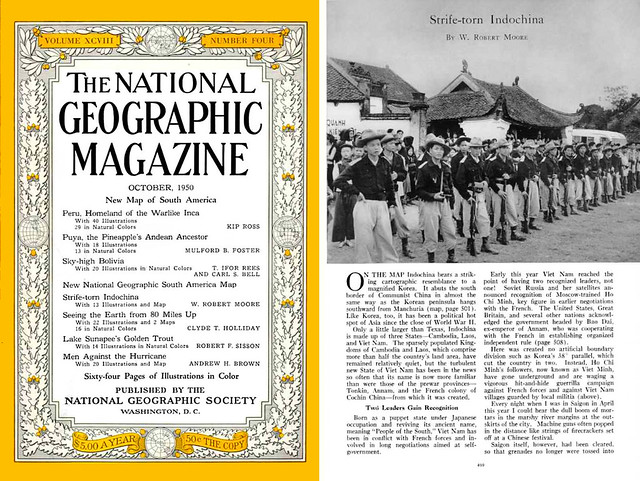 NATIONAL GEOGRAPHIC October 1950 (1) Strife-torn Indochina - By W. ROBERT MOORE