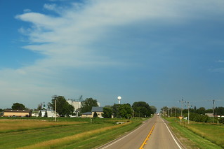 View of Hemingford from the west end of town.