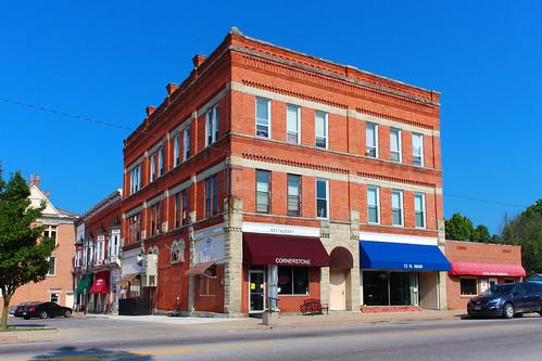 mountgilead morrowcounty ohio village downtown freemasonry masonictemple