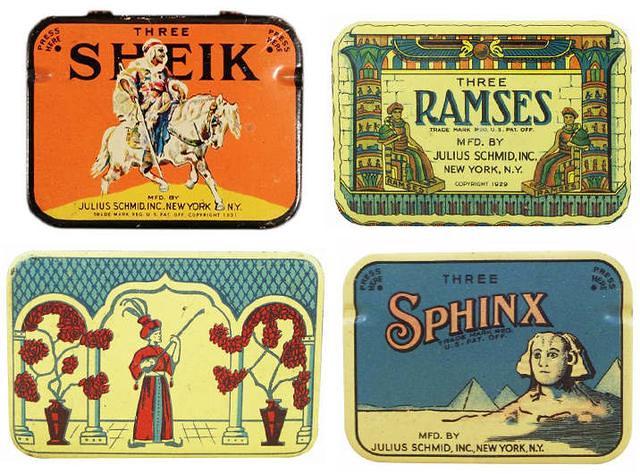 仕女、裸女肖像營造優雅形象 1910 到 1950 年的復古保險套包裝17