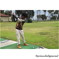 I took a break from my work to take my little brother Kojo out golfing at the driving range. It's the little things that help make a young man grow into a man that you want him to be. www.princesdailyjournal.com #princesdailyjournal #princeinthecity #golf