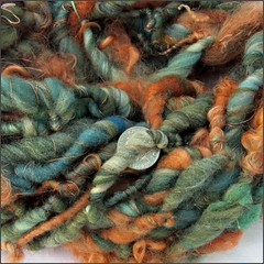 Rust Verde handspun, close up