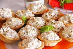 Tartlets with radish salad :)