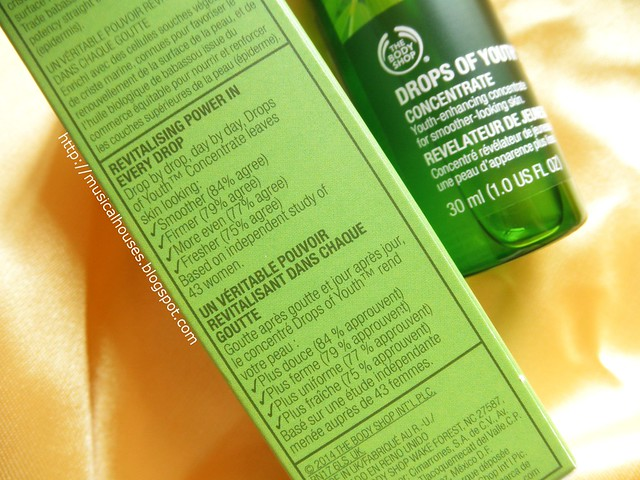 The Body Shop Drops of Youth Concentrate Description