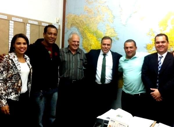 06 07 2015 - Visitas de Belo Horizonte - Adriana de Paula, Giovanni Viana, Paulo Romeu, Paulo Abi-Ackel, Márcio de Paula e Luigi DÂngelo