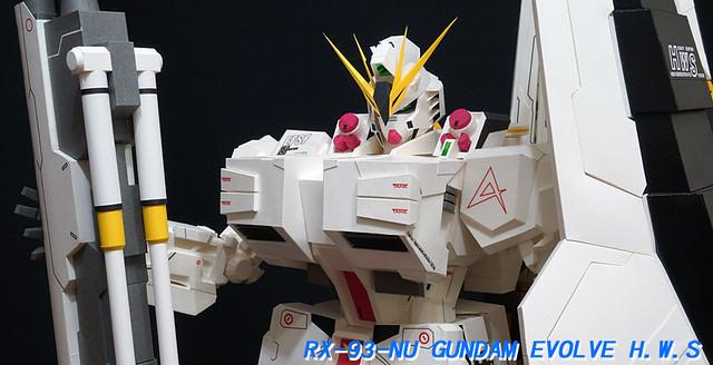 【玩具人小鬼隊長投稿】RX-93-NU GUNDAM EVOLVE H.W.S紙模型製作分享