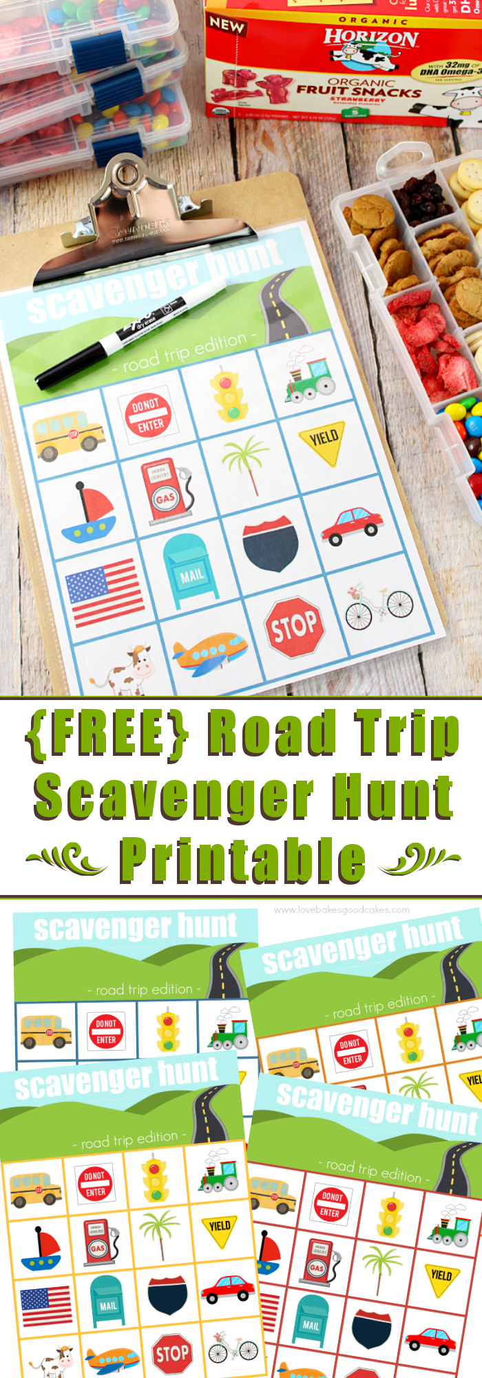 image about Road Trip Scavenger Hunt Printable identified as Street Vacation Scavenger Hunt Printable - Get pleasure from Bakes Great Cakes