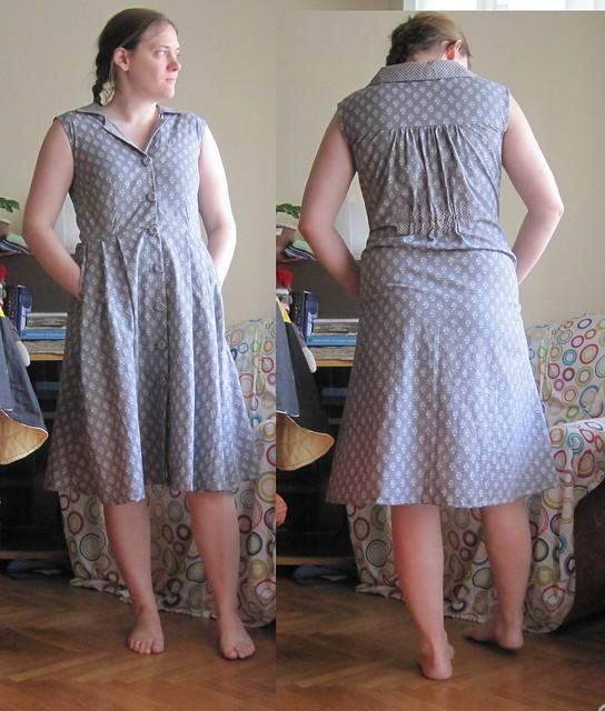 gray Gertie shirtwaist dress