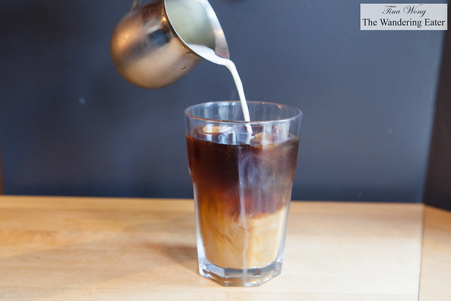 Cold brew with milk at Cafe Plume