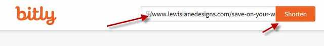 Enter URL into Bitly by Lewis Lane
