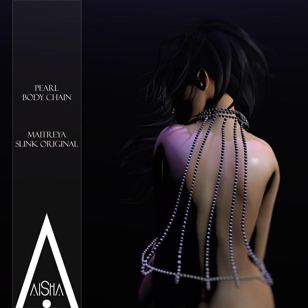 .AiShA. Pearl body chain @ The Secret Affair - SecondLifeHub.com
