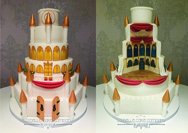 Double Sided Wedding Cake by Shelly Shulman of La Belle Cake Company