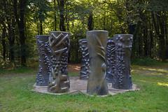 Sept colonnes à Stéphane Mallarmé, Étienne Hajdu, domaine de Kerguéhennec