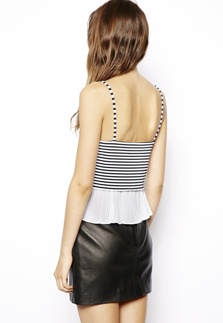 ASOS Cami Top with Pleated Hem