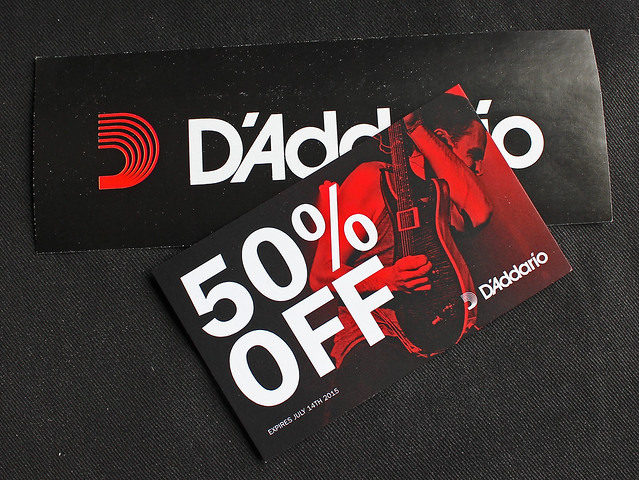 The D'Addario offer card