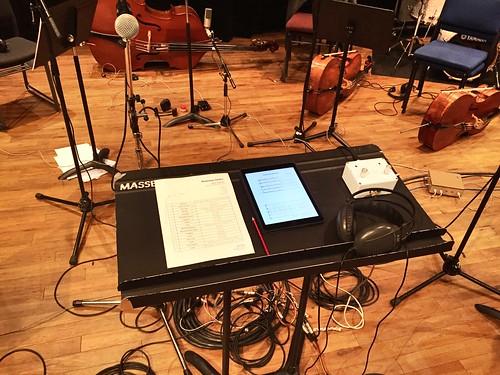 Recording in Wellington.