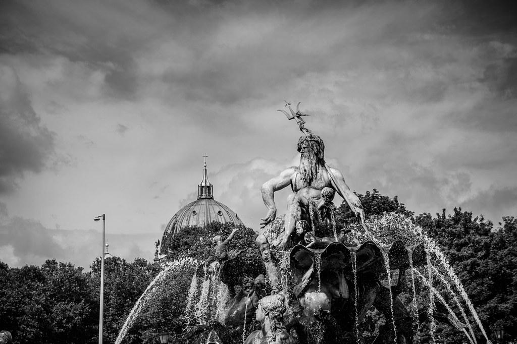 Neptun vom Neptunbrunnen in Berlin