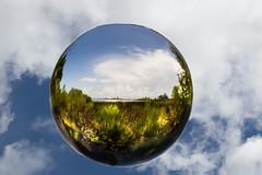 liquid bubble, cloud, sunlight, sphere, light, macro photography, green, close-up, circle, blue, sky,