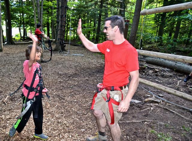 confidence builder - Arbor Trek Smugglers Notch, Vermont