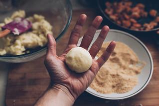 Bolinho de Batata e Camarão