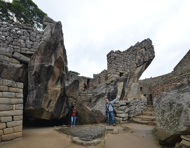 Templo del Halcón en Machu Picchu