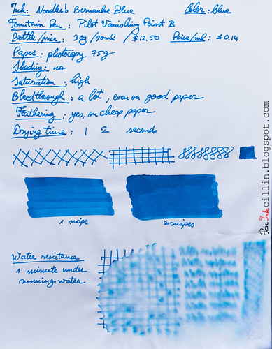 Noodler's Bernanke Blue on photocopy