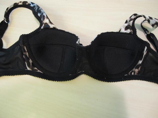 Silk leopard print Boylston bra