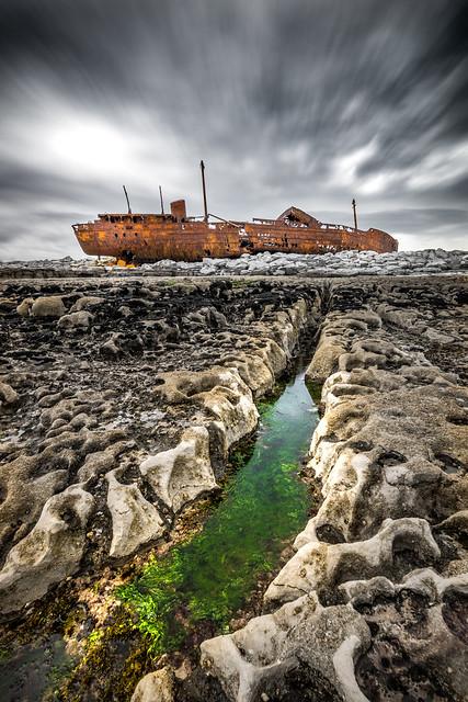 Plassey shipwreck - Inisheer, Ireland - Travel photography